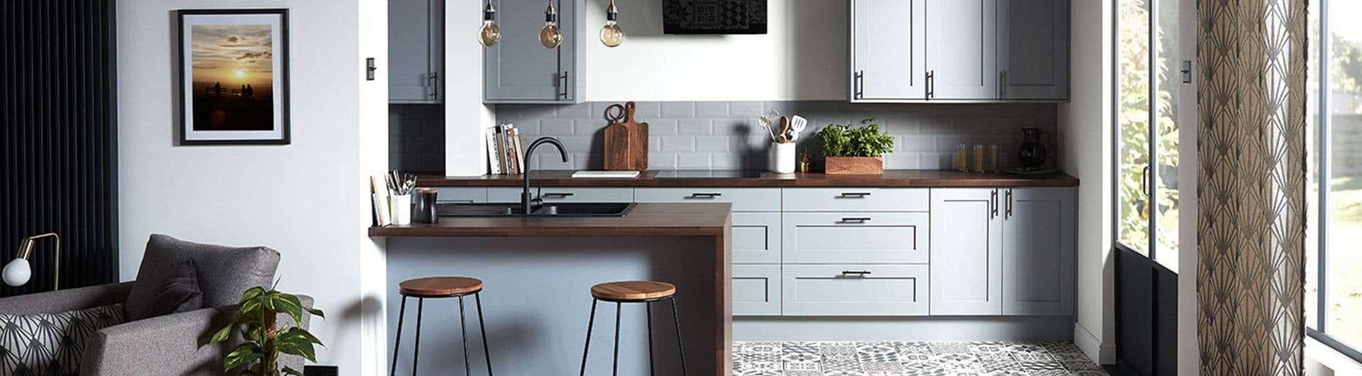 Living-ul și bucătăria open space