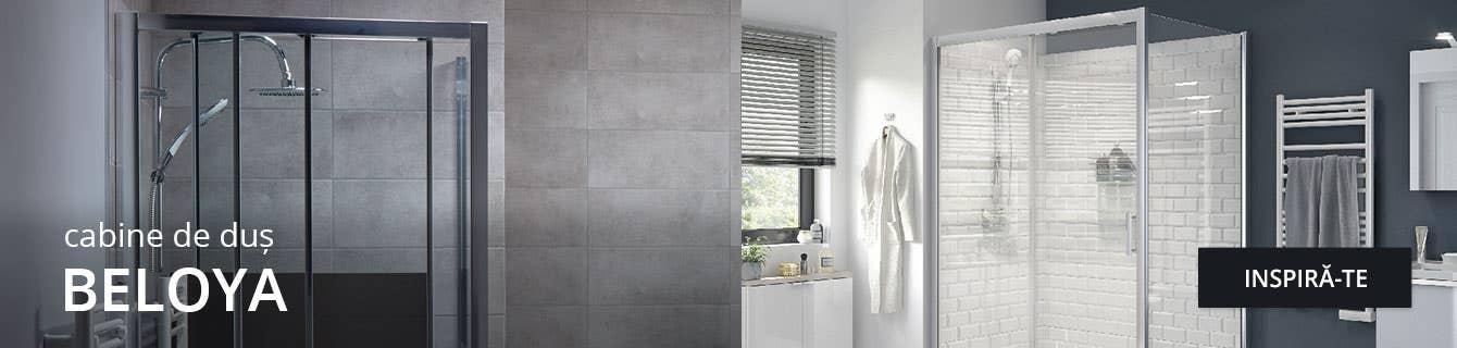 Gama Beloya de cabine de duș și accesorii