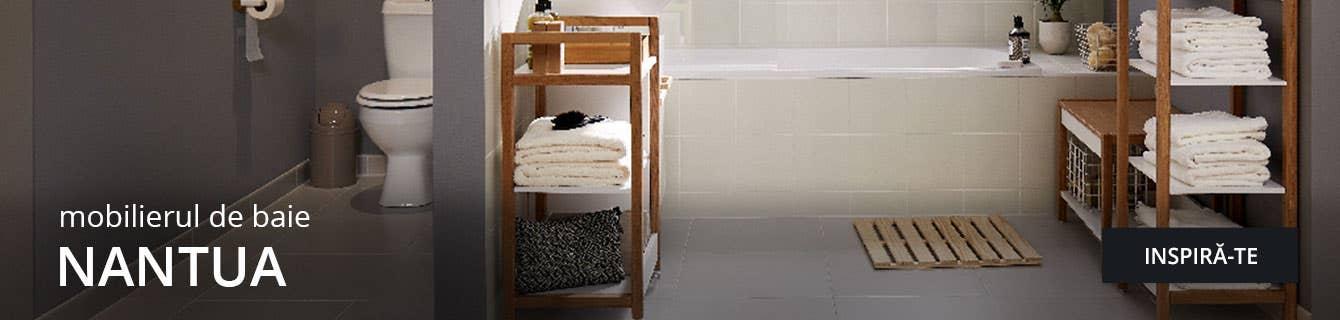 Gama Nantua de mobilier pentru baie