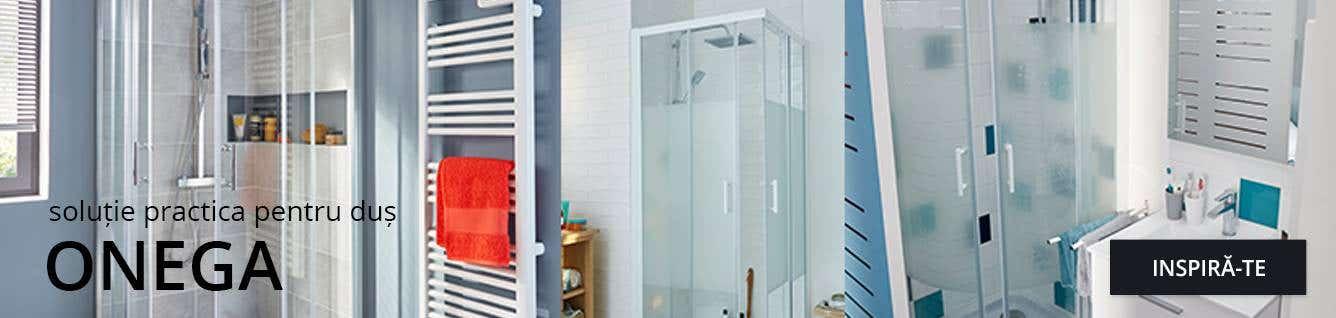 Gama Onega de cabine de duș și accesorii