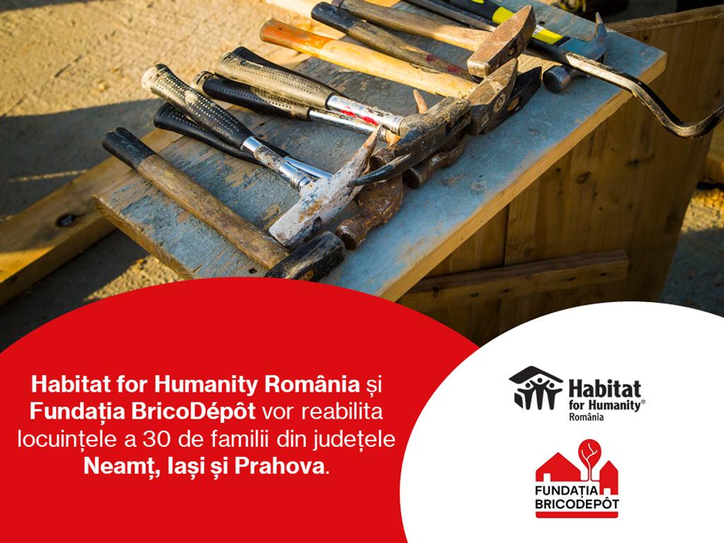 Fundația BricoDépôt reclădeşte vieți, printr-un nou parteneriat cu Habitat for Humanity România