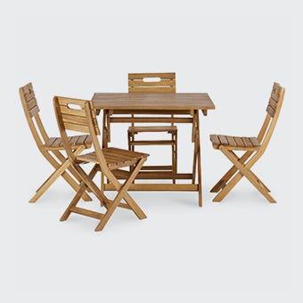 zona pentru relaxare - din lemn