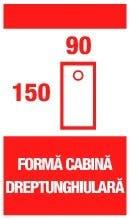 Forma cabina dreptunghiulara 150x90cm