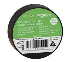 Banda izolatoare PVC, 19mmX20m, neagra • Schneider Electric