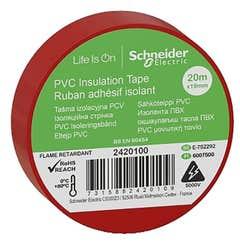 Banda izolatoare PVC, 19mmX20m, rosie • Schneider Electric