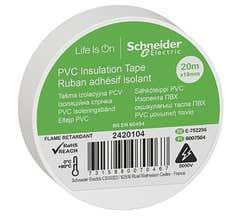 Banda izolatoare PVC, 19mmX20m, alba • Schneider Electric