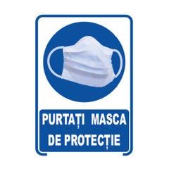 """Indicator """"PURTATI MASCA DE PROTECTIE"""", 20x30"""