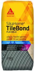 Adeziv flexibil exterior/interior pentru gresie/faianta si piatra naturala, 20 kg • Sika, SikaHome