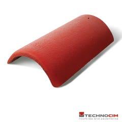 Coama din beton pentru acoperis Breeze Technocim, 3 buc m/l, rosu