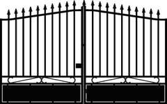 Poarta intrare auto, negru, 170 x 300 cm