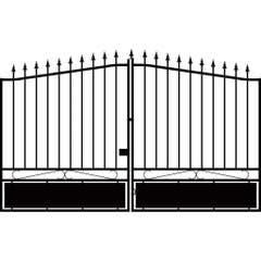 Poarta intrare auto, negru, 170 x 350 cm