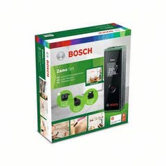 Telemetru cu laser 635 nm, 20 m, precizie ± 3.0 mm, 3 accesorii • Bosch Zamo