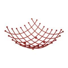 Cos metal rosu pentru fructe • Frandis
