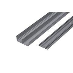 Sistem culisare 2 sine 180 cm, argint