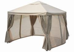 Pavilion cu pereti taupe, cadru otel, 3 x 3 m • Preston