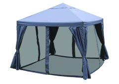 Pavilion gri, cadru otel, 3 x 3 m • Preston