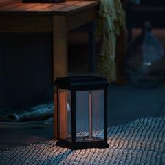 Lampa solara tip felinar, negru, cu LED integrat de 30 lm Alb rece 5000 K IP44
