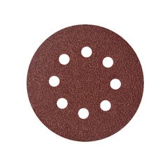 Mix 10 foi abrazive, rotunde, perforate, 125 mm x 125 mm, granulatie variata • Universal Fit