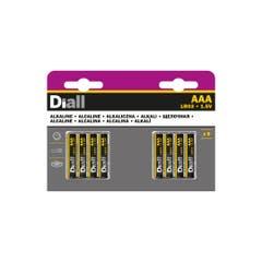 Set 8 baterii alcaline AAA, 1150mAH • Diall