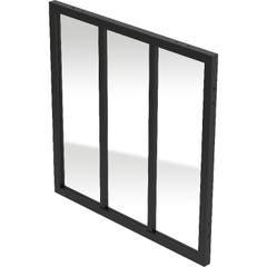 Panou, negru, 100 x 100 x 4 cm • GoodHome Alara