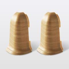 Coltar pentru plinta PVC GoodHome, exterior, lemn, 59 mm, 2 bucati