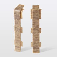 Accesorii imbinare pentru plinta din PVC GoodHome, 2 buc, 12 x 75 x 24 mm, lemn deschis 148121