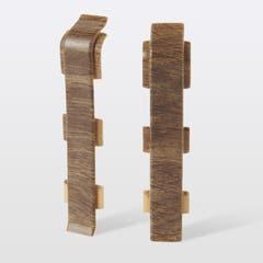 Accesorii imbinare pentru plinta din PVC GoodHome, 2 buc, 12 x 75 x 24 mm, lemn