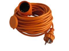 Cablu prelungitor stecar Diall H05VV-F, 20 m, portocaliu