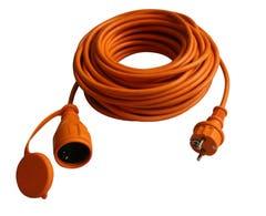 Cablu prelungitor stecar Diall H05VV-F, 40 m, portocaliu