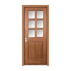 Usa interior, 2 panouri geam, 205 x 78 x 10 cm, nuc