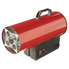 Aeroterma pe gaz cu tiraj fortat REF BAO-5, 220 -240 V, 15 kW, culoare rosu