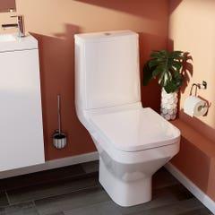 Pachet vas WC duobloc, patrat, autonom, garantie 10 ani • Cooke & Lewis Teesta