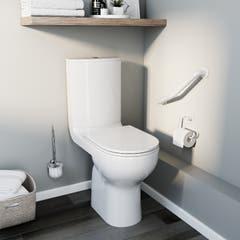 Pachet vas WC duobloc, rotund, autonom, garantie 10 ani • Cooke & Lewis Cavally_100593123
