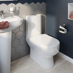 Pachet vas WC duobloc, rotund, garantie 10 ani • Cooke & Lewis Cavally