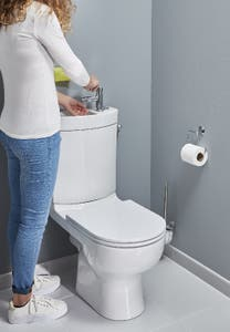 Pachet vas WC duobloc, rotund, autonom, garantie 10 ani • Cooke & Lewis Cavally_100593121