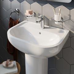 Lavoar rotund, alb, 57 cm, montare pe perete • GoodHome Cavally