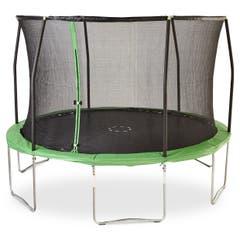 Trambulina de gradina, diametru 366 cm, verde