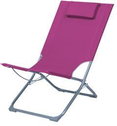 Scaun camping, roz, otel si poliester, 79 x 47 x 73 cm• Curacao