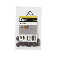 Capac surub Diall, 10 - 12 mm, maro