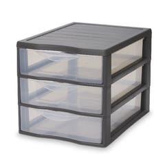 Organizator Kontor 3 sertare, 360 x 260 x 255 mm, gri