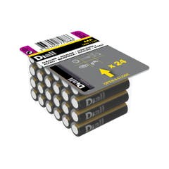 Set 24 baterii alcaline AAA, 1150mAH • Diall