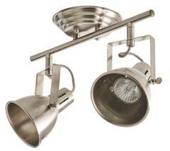 Plafoniera LED, crom, 2 x 12 W, GU10, 230 V, metal • Asterion