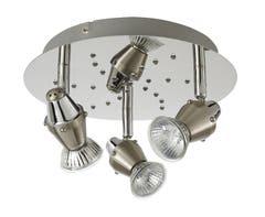 Spot cu LED integrat, argintiu, 3 x 50W, 240V, metal • Colours Ceraon