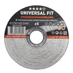 Set disc pentru taiere metal 115 x 1 mm, 5 bucati/set • Universal Fit