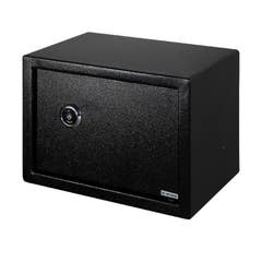 Seif mecanic pentru birou, 25 x 35 x 25 cm, 3 chei, negru, SMITH AND LOCKE