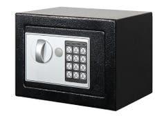 Seif electronic, 17 x 23 x 17 cm, negru, SMITH AND LOCKE