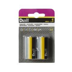 Set 2 baterii alcaline C LR14 • Diall