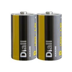 Set 2 baterii alcaline D LR20, 15300mAH • Diall