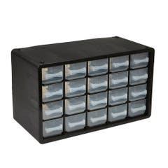 Organizator casetiera plastic, 20 organizatoare, 184 x 305 x 149 mm