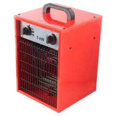 Aeroterma industriala cub, rosu, 5000W, acoperire 20-25 mp